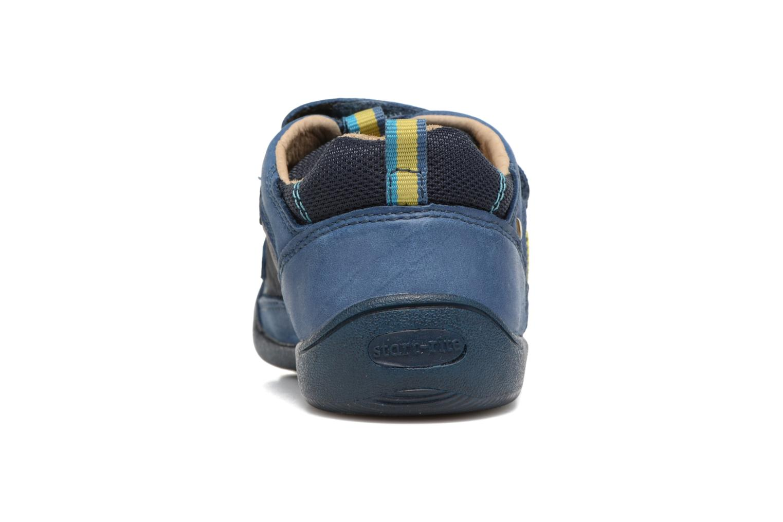 Chaussures à scratch Start Rite Leo Bleu vue droite