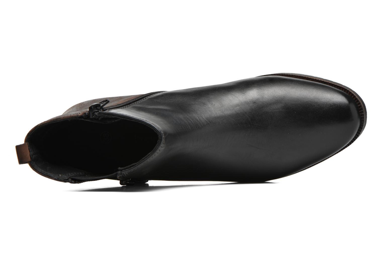 Botines  Bugatti Faith Negro vista lateral izquierda
