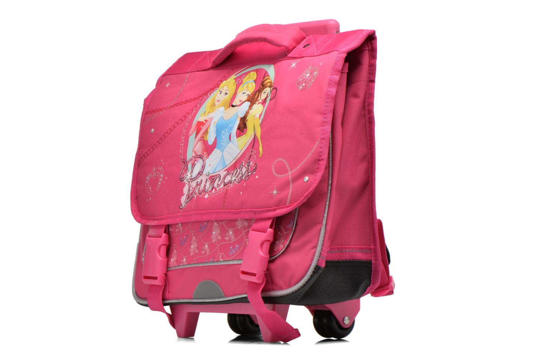 Scolaire Disney Cartable 38cm Trolley Princesses Rose vue portées chaussures