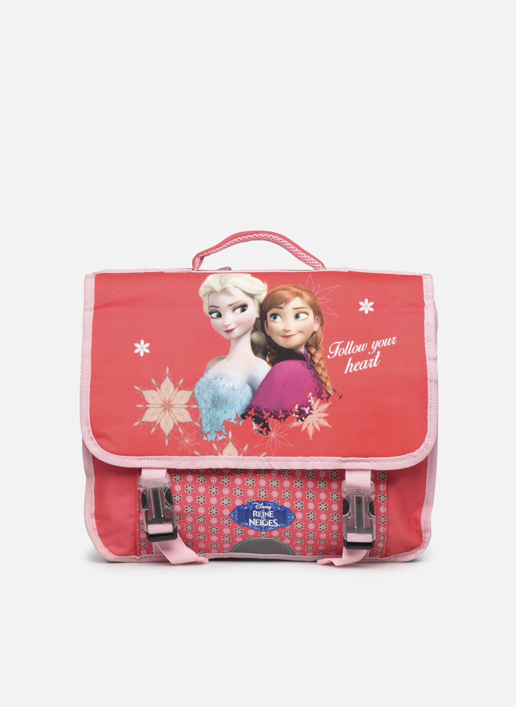 Scolaire Disney Cartable 38cm Reine des neiges Rose vue détail/paire
