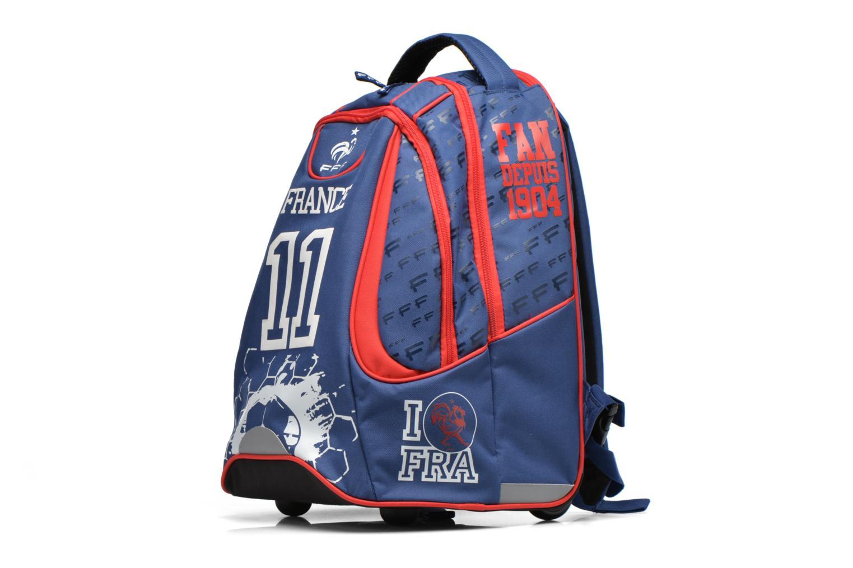 Per la scuola FOOTBALL CLUB Sac à dos Trolley Euro 2016 Azzurro modello indossato