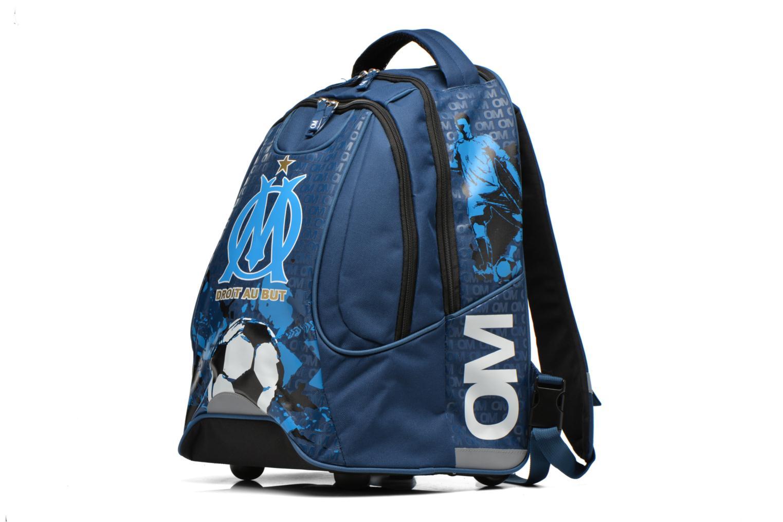 Scolaire FOOTBALL CLUB Sac à dos Trolley OM Bleu vue portées chaussures