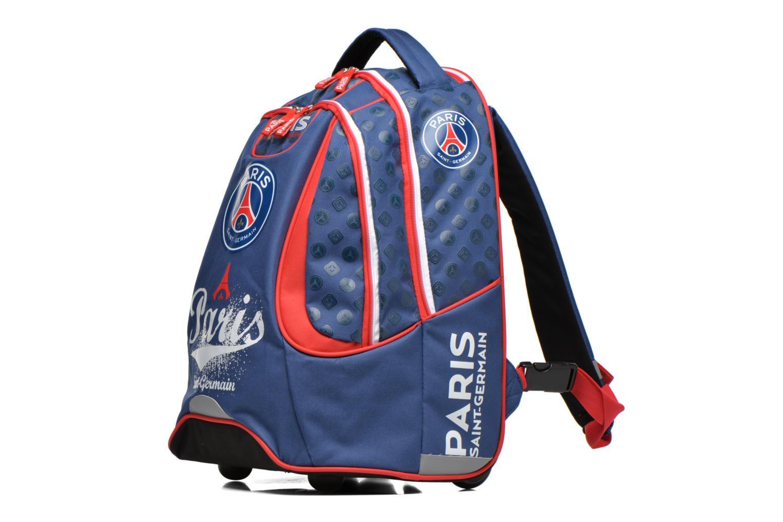 Scolaire FOOTBALL CLUB Sac à dos Trolley PSG Bleu vue portées chaussures