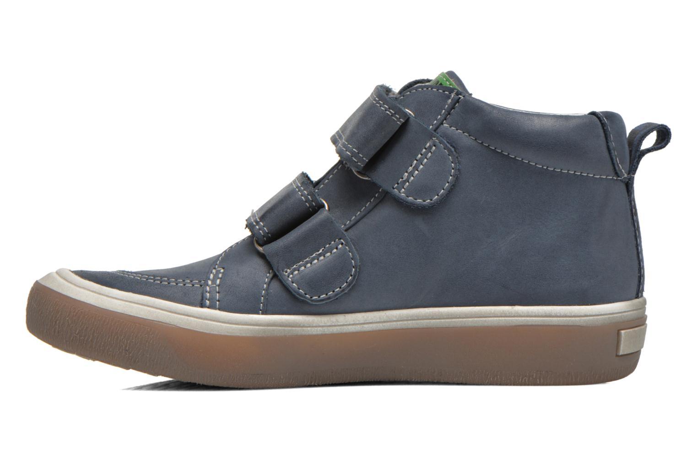 Zapatos con velcro Babybotte Kadreur Azul vista de frente