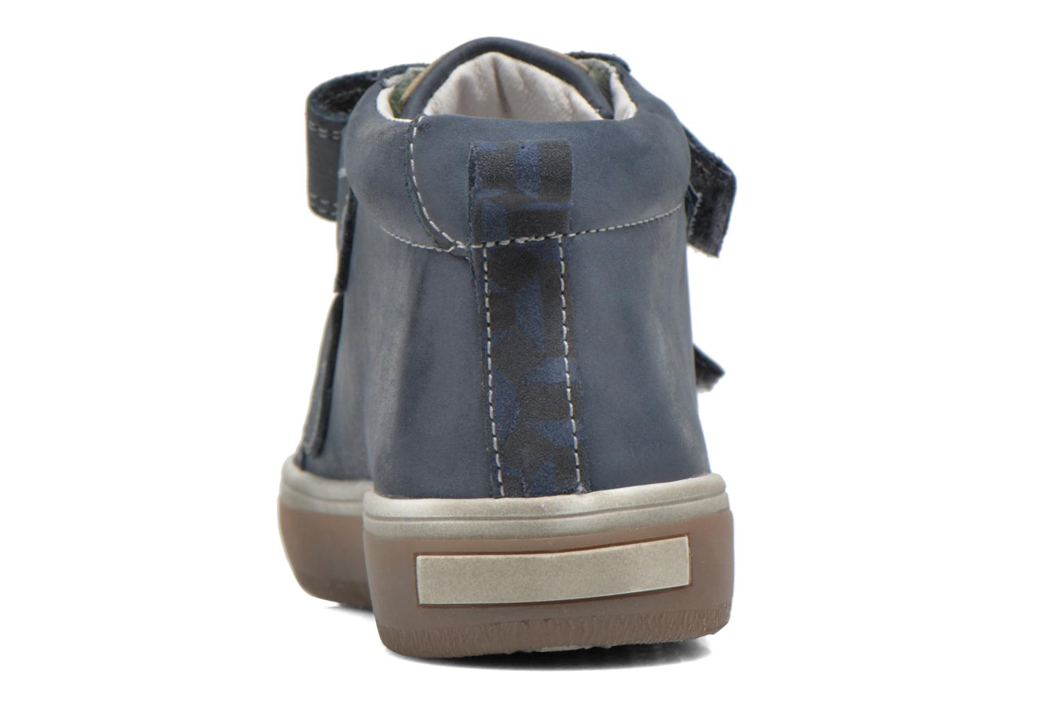 Velcro shoes Babybotte Kadreur Blue view from the right