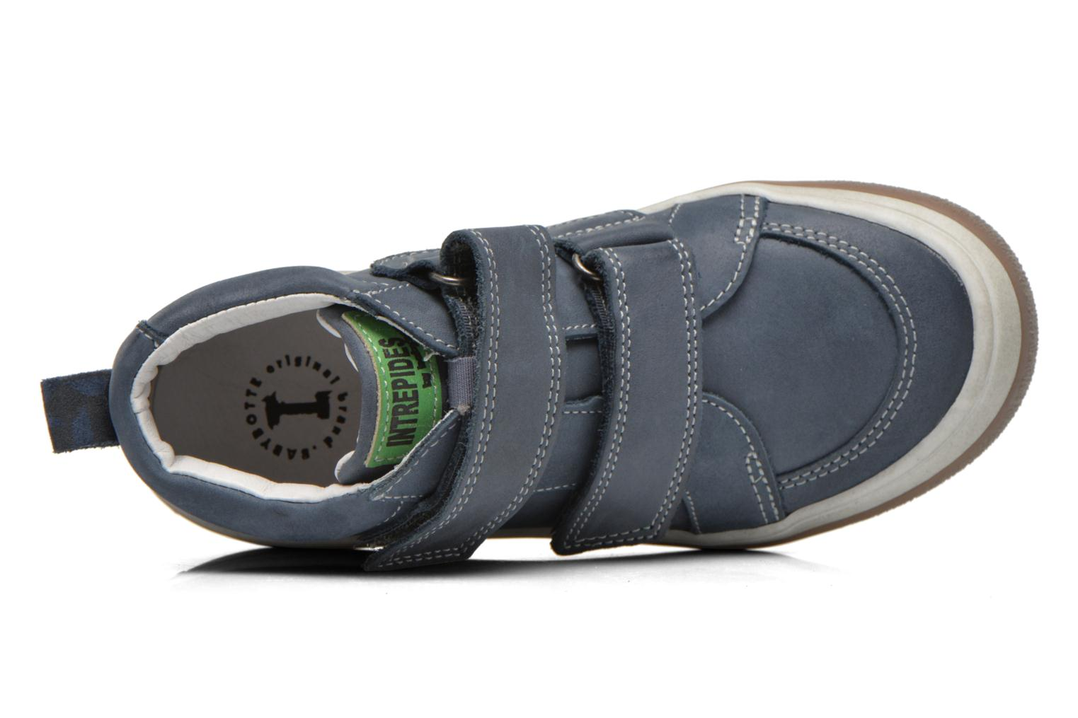 Velcro shoes Babybotte Kadreur Blue view from the left