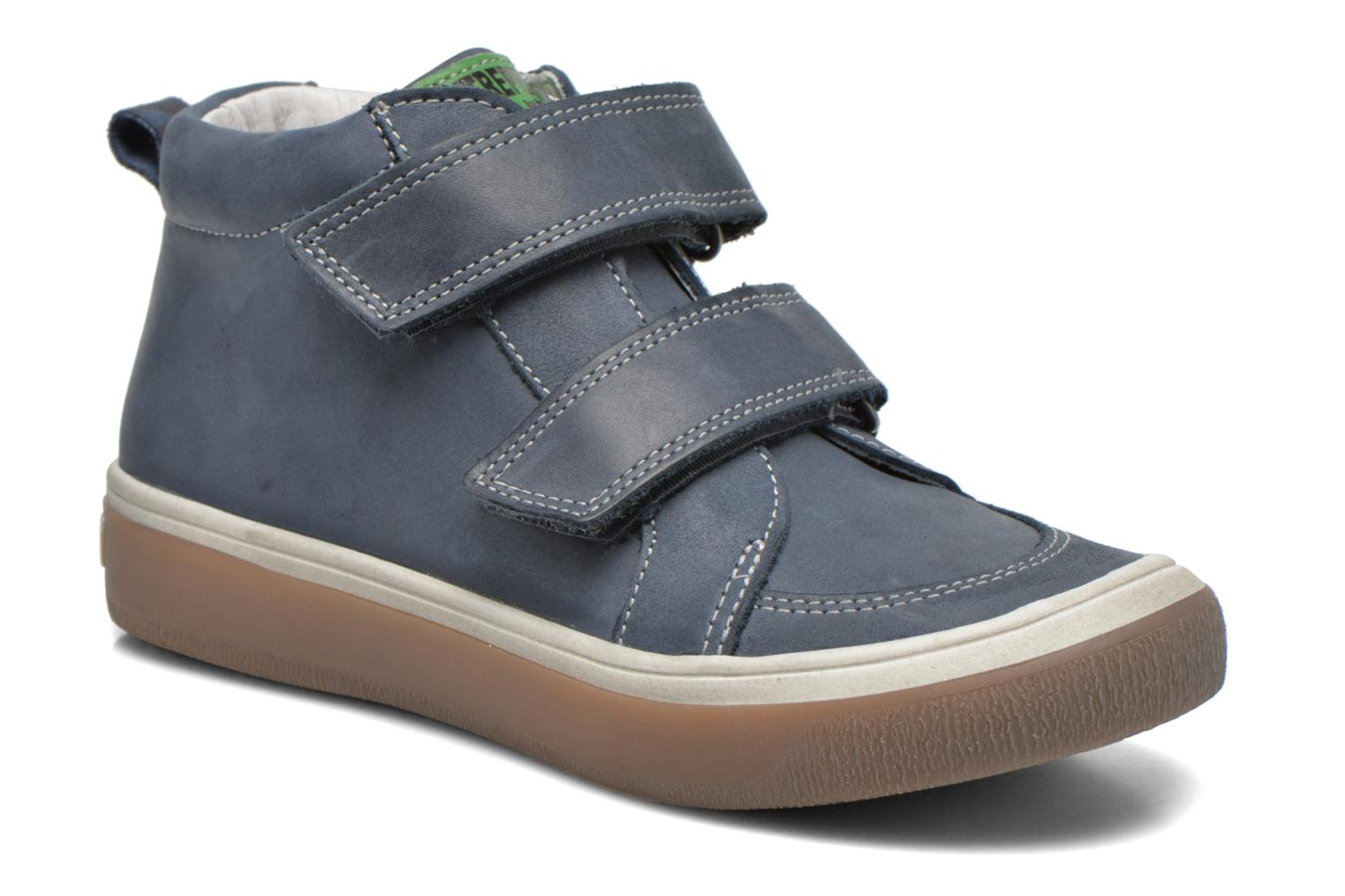 Velcro shoes Babybotte Kadreur Blue detailed view/ Pair view
