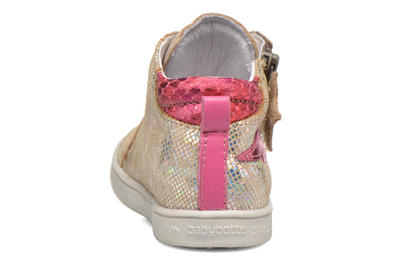 Baskets Babybotte Adrenaline Or et bronze vue droite