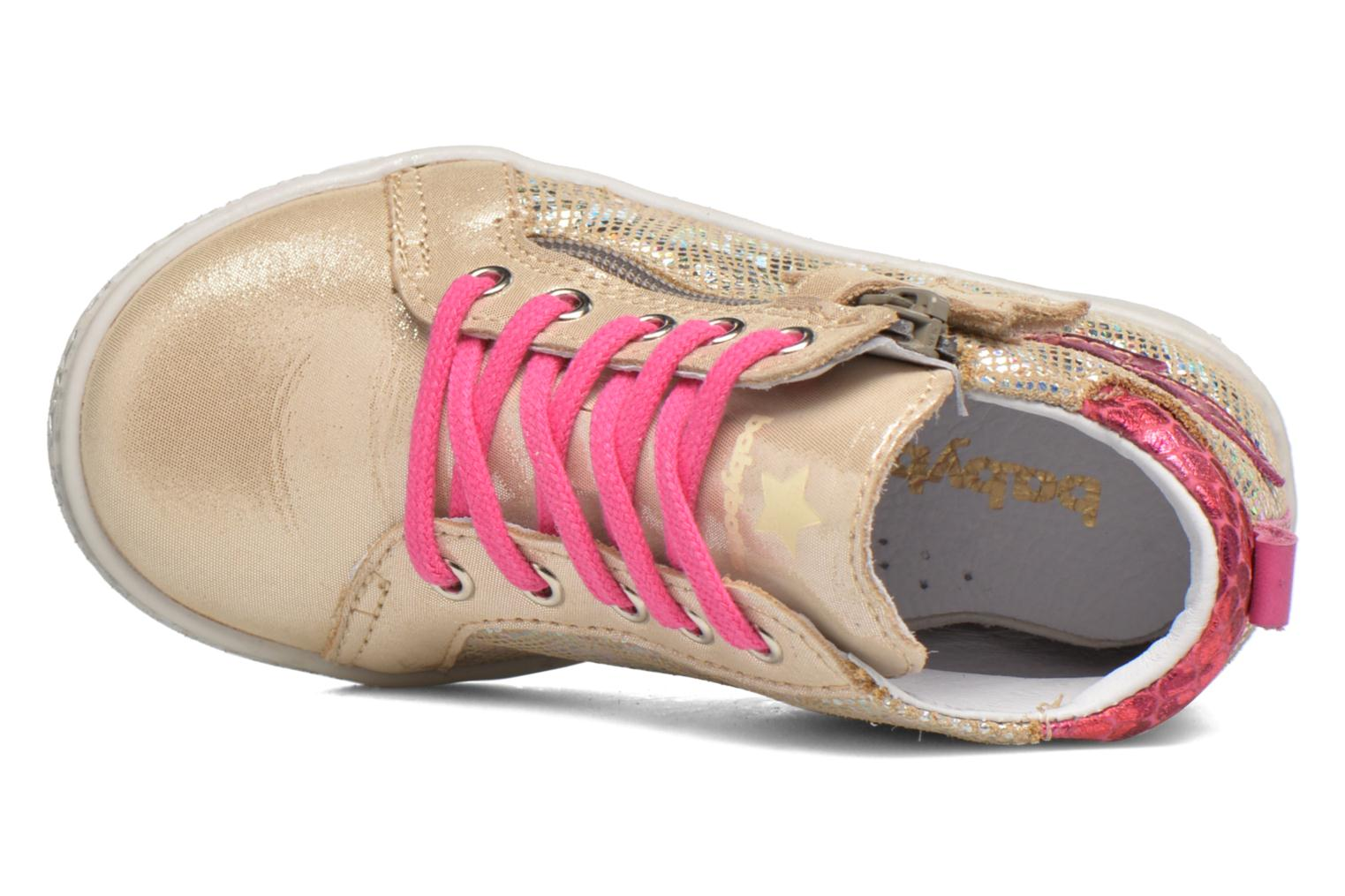 Trainers Babybotte Adrenaline Bronze and Gold view from the left