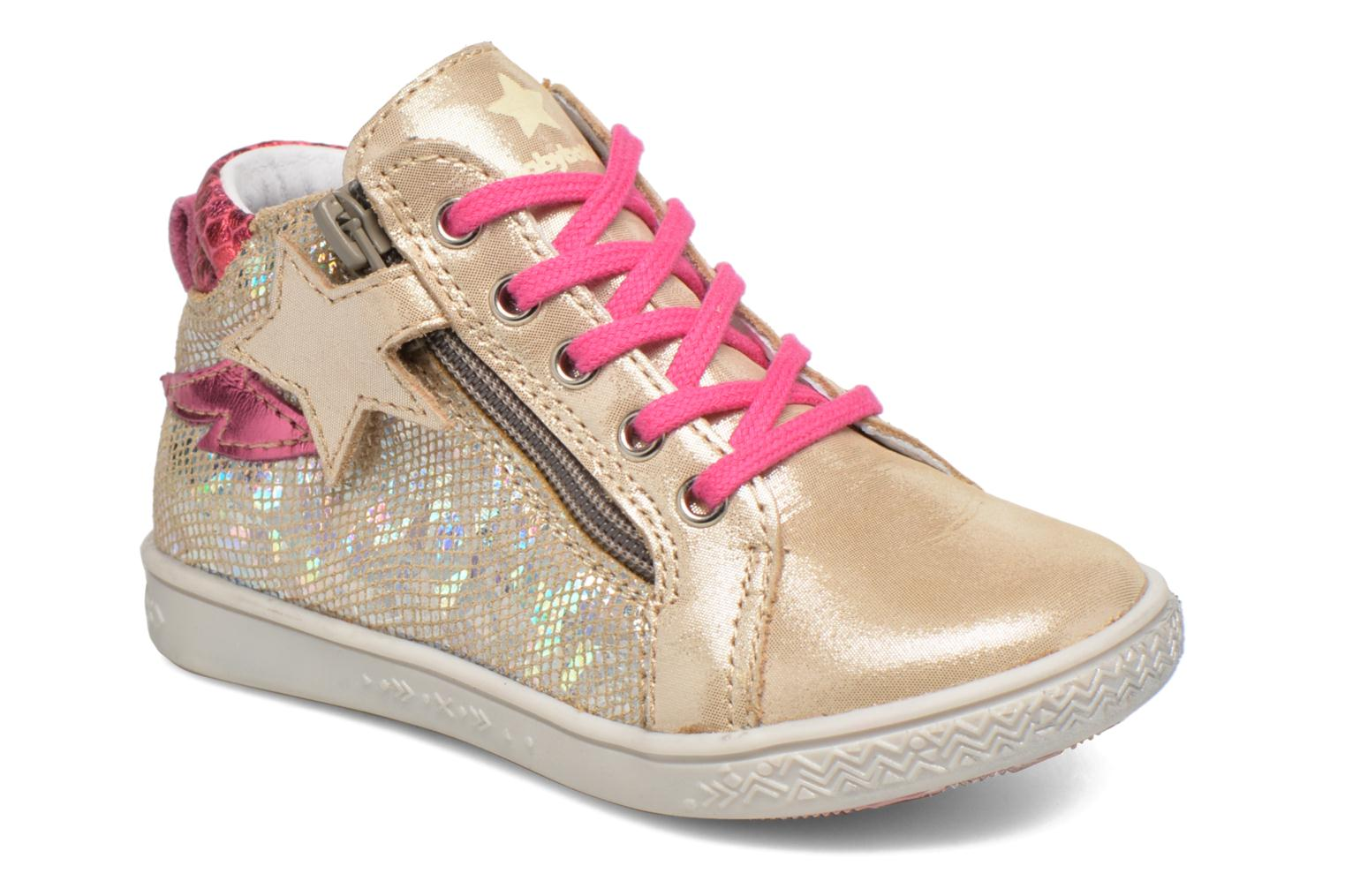 Trainers Babybotte Adrenaline Bronze and Gold detailed view/ Pair view