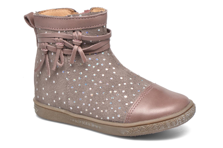 Bottines et boots Babybotte Ambalaba Rose vue détail/paire