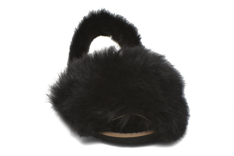Sandales et nu-pieds MINORQUINES Avarca Sherpa Noir vue portées chaussures
