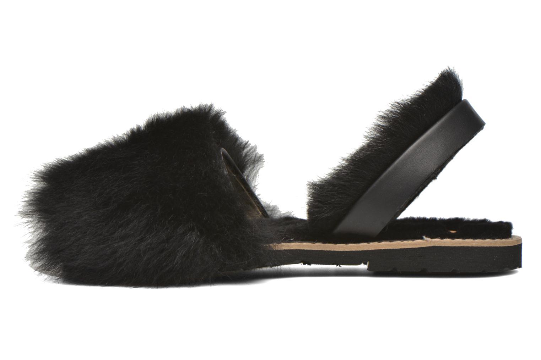 Sandalen MINORQUINES Avarca Sherpa schwarz ansicht von vorne