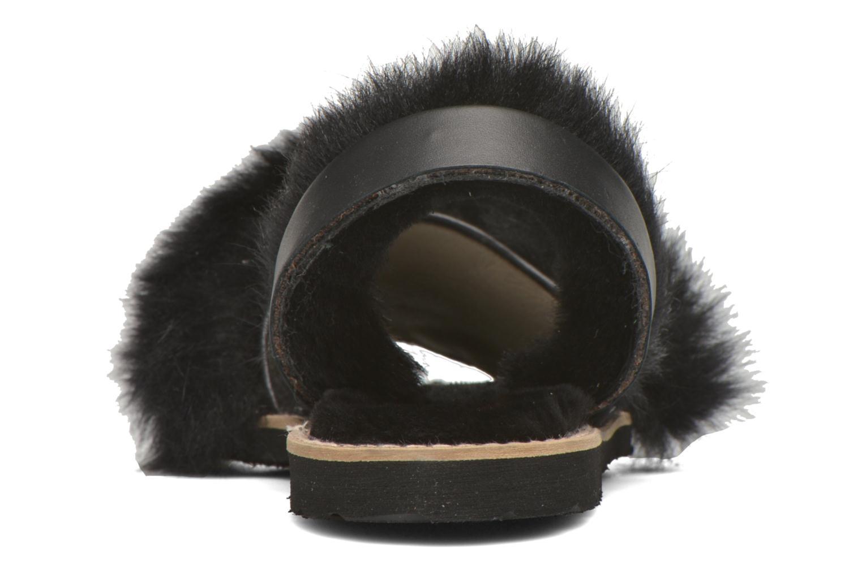Sandales et nu-pieds MINORQUINES Avarca Sherpa Noir vue droite