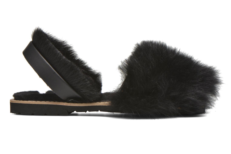 Sandales et nu-pieds MINORQUINES Avarca Sherpa Noir vue derrière