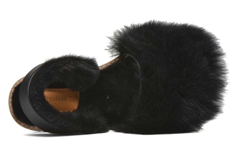 Sandales et nu-pieds MINORQUINES Avarca Sherpa Noir vue gauche