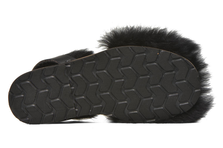 Sandales et nu-pieds MINORQUINES Avarca Sherpa Noir vue haut