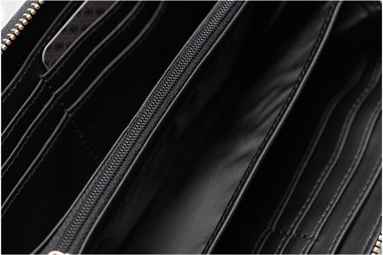 Petite Maroquinerie Guess Janette verni Large Zip around Noir vue derrière