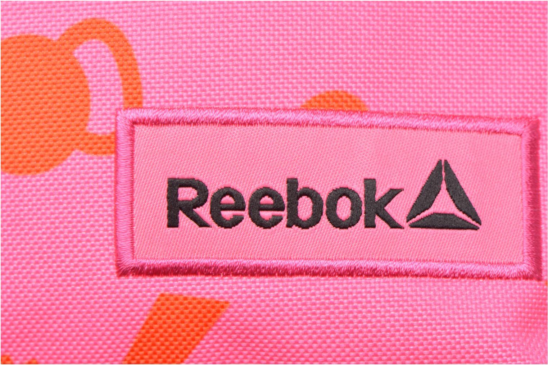 Rucksäcke Reebok KIDS U BTS GRAPH PB rosa ansicht von links