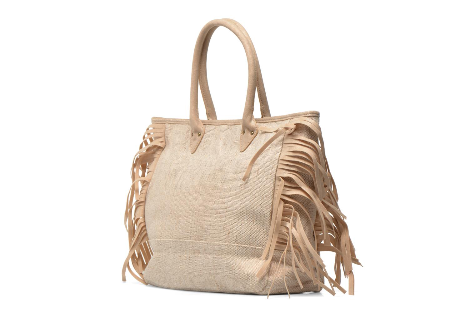 Handbags Les P'tites Bombes Sac à frange Beige view from the right
