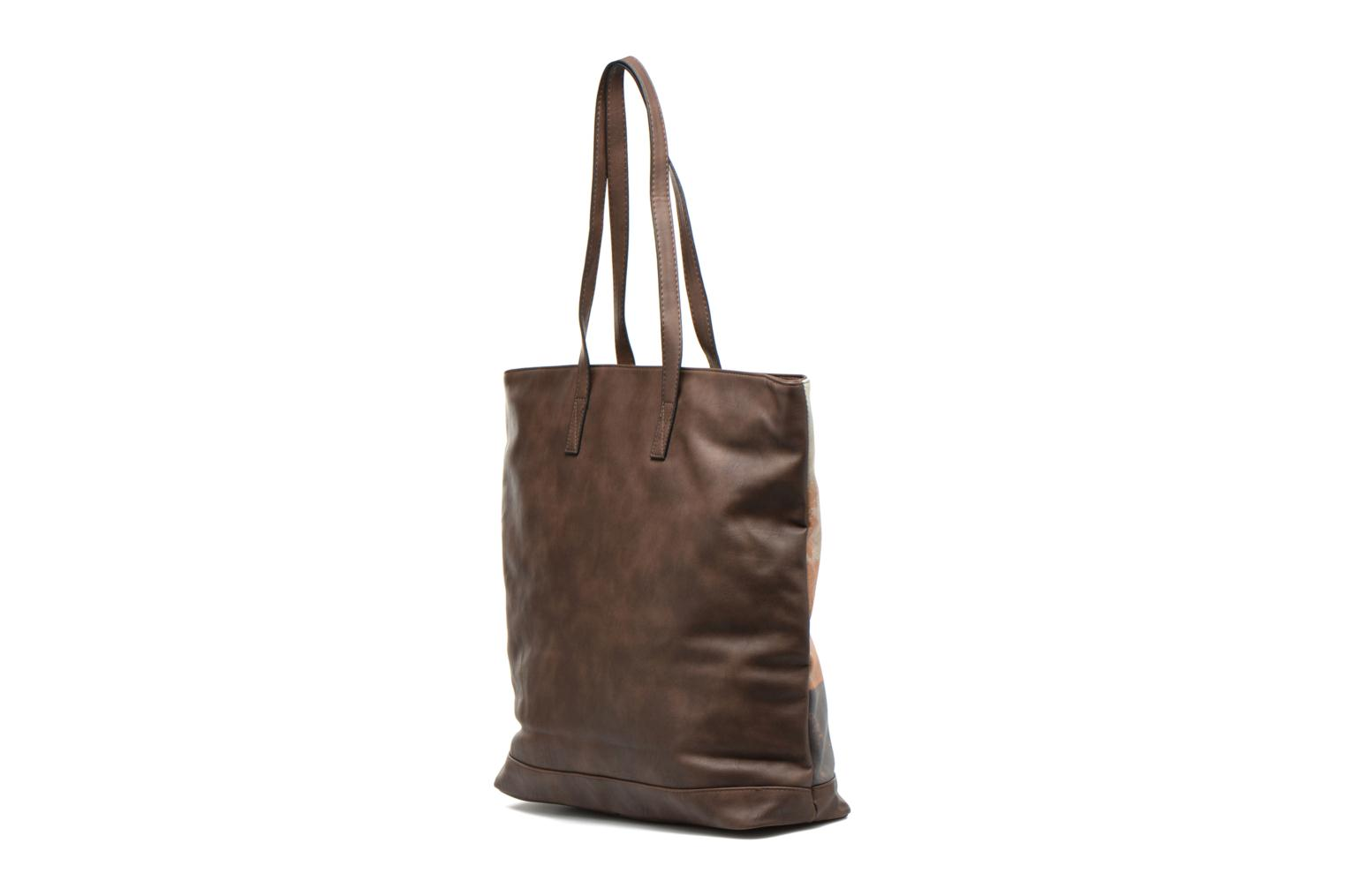 Bolsos de mano Little Marcel Shopi Marrón vista lateral derecha