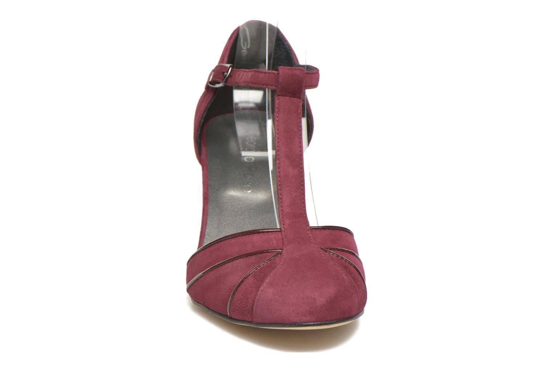Escarpins Georgia Rose Lomée Bordeaux vue portées chaussures