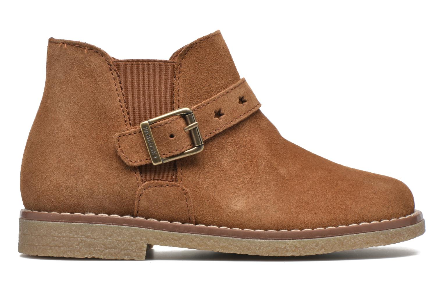 Ankle boots Pablosky Lucia Brown back view