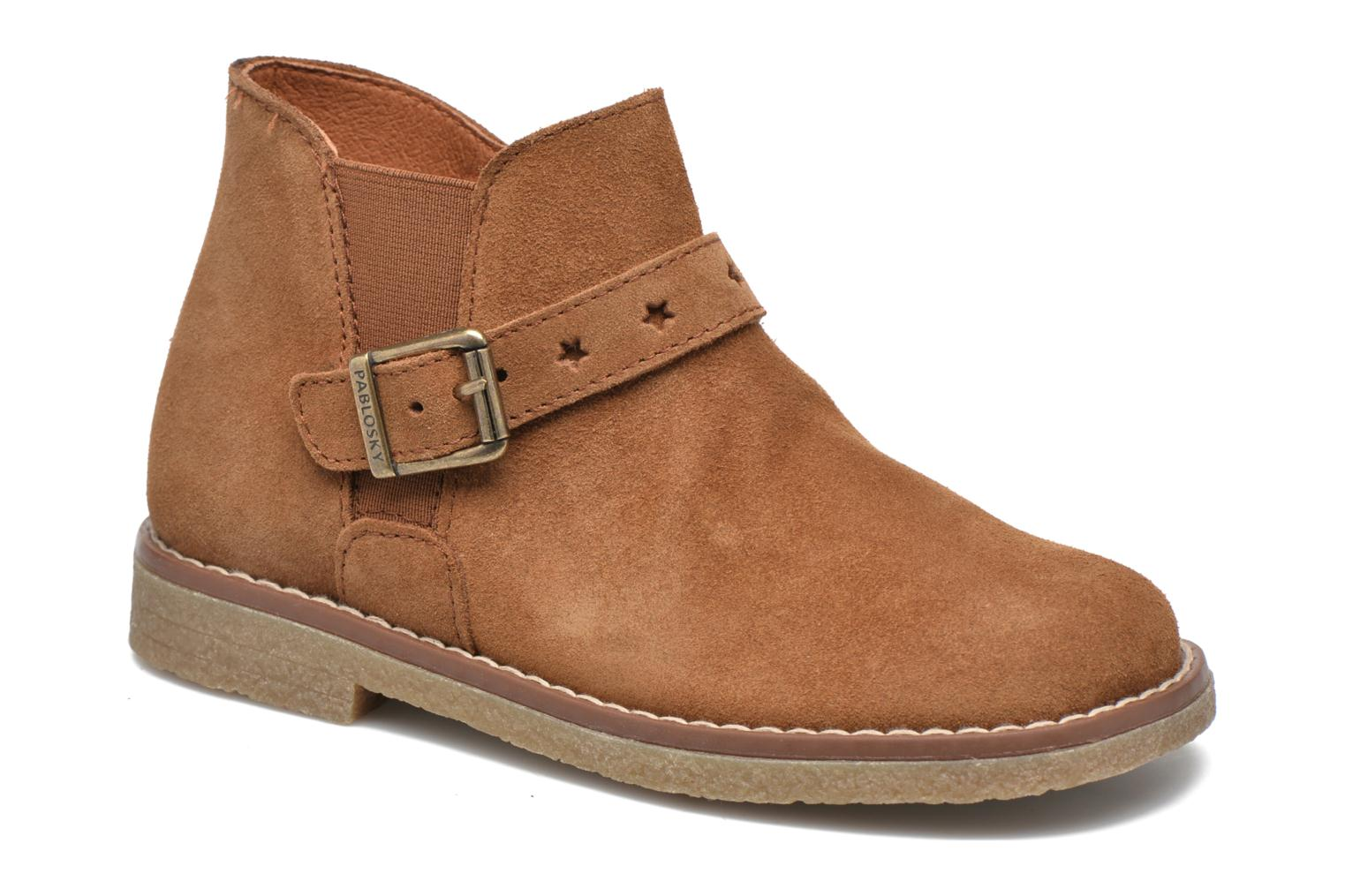 Ankle boots Pablosky Lucia Brown detailed view/ Pair view
