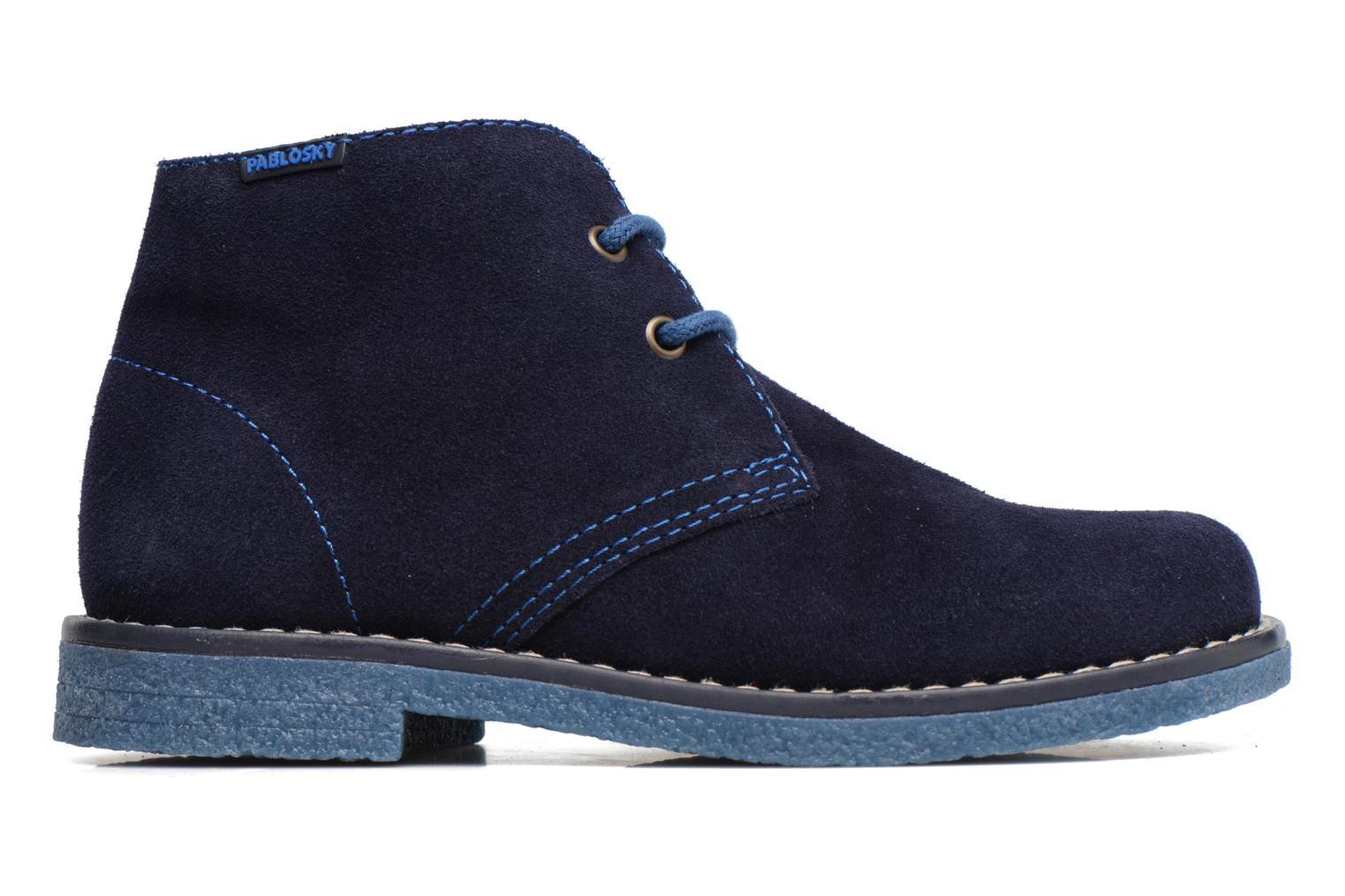 Lace-up shoes Pablosky Camilo Blue back view