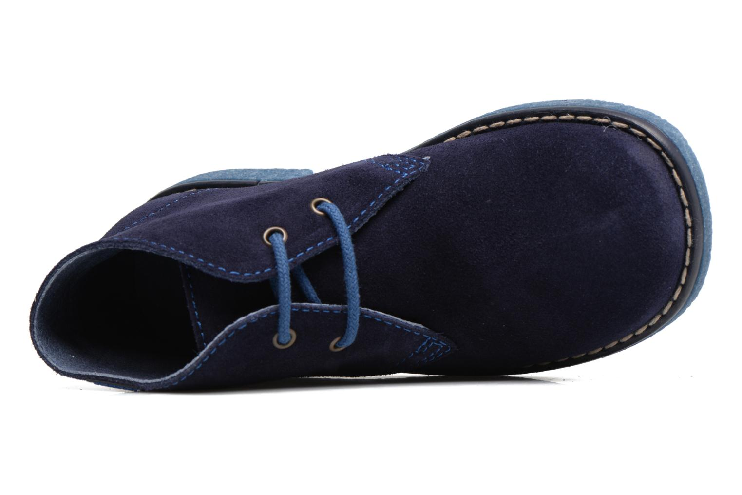 Lace-up shoes Pablosky Camilo Blue view from the left