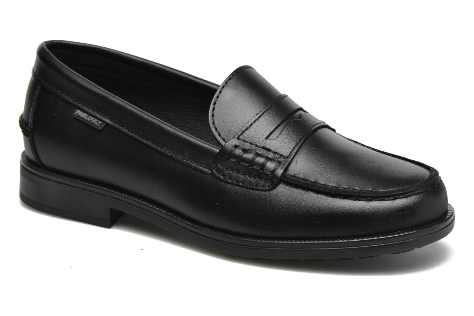 Loafers Pablosky Felipe Black detailed view/ Pair view