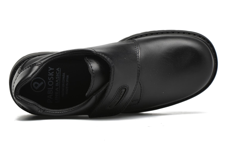 Zapatos con velcro Pablosky Gonzalo Negro vista lateral izquierda