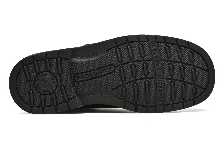 Zapatos con velcro Pablosky Gonzalo Negro vista de arriba