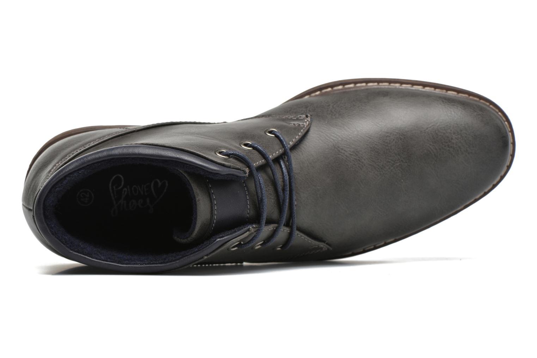 Schnürschuhe I Love Shoes SUTILLON grau ansicht von links