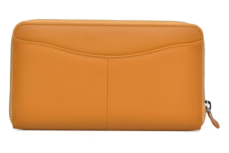 Wallets & cases Le Tanneur VALENTINE Porte-monnaie long zippé Yellow front view
