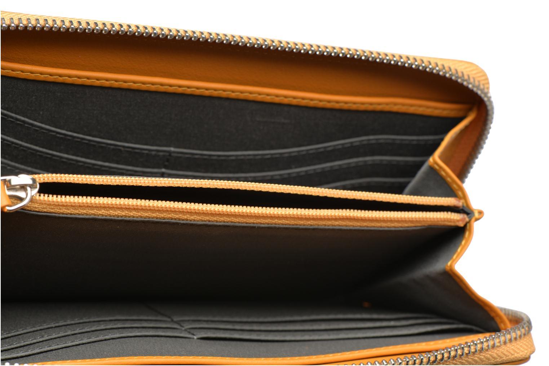 Wallets & cases Le Tanneur VALENTINE Porte-monnaie long zippé Yellow back view