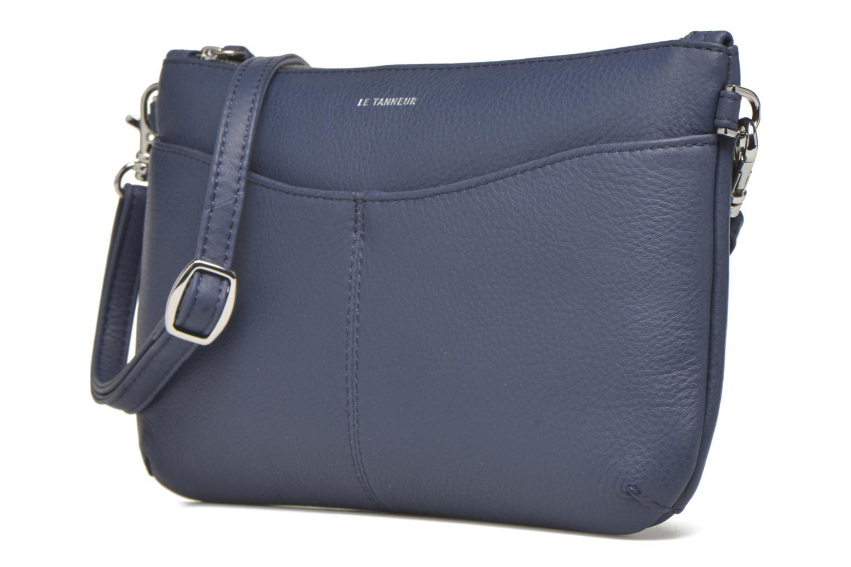 Clutch bags Le Tanneur VALENTINE Pochette zippée Blue model view