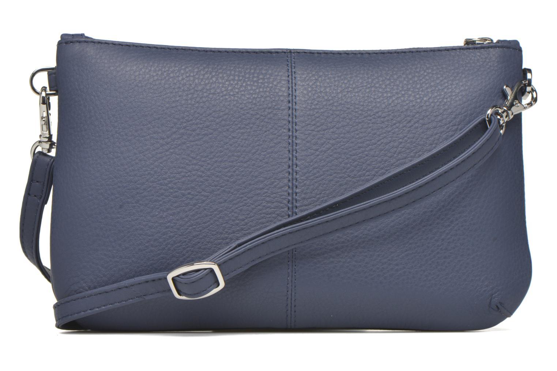 Clutch bags Le Tanneur VALENTINE Pochette zippée Blue front view