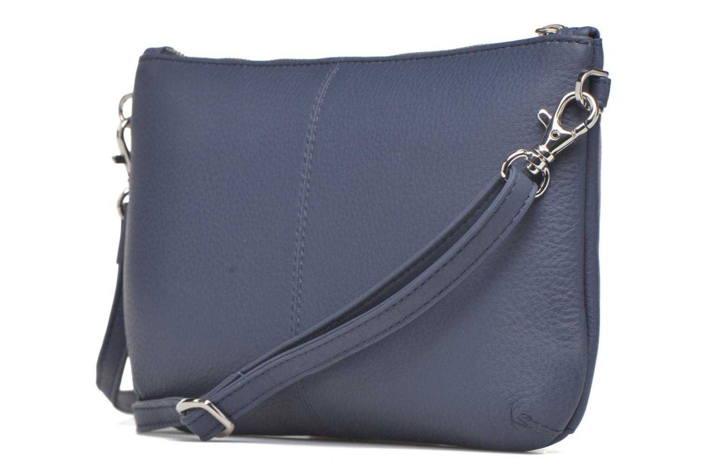 Clutch bags Le Tanneur VALENTINE Pochette zippée Blue view from the right