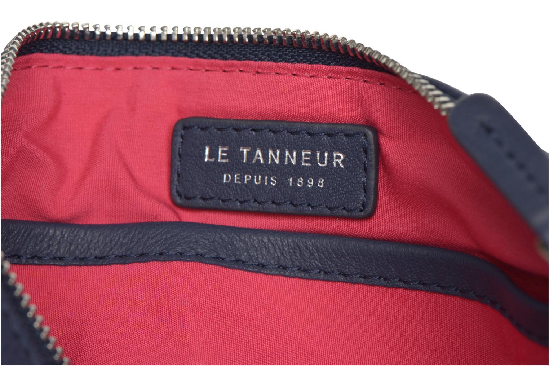 Clutch bags Le Tanneur VALENTINE Pochette zippée Blue back view