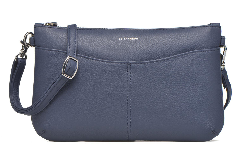 Clutch bags Le Tanneur VALENTINE Pochette zippée Blue view from the left