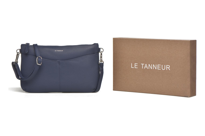 Clutch bags Le Tanneur VALENTINE Pochette zippée Blue detailed view/ Pair view