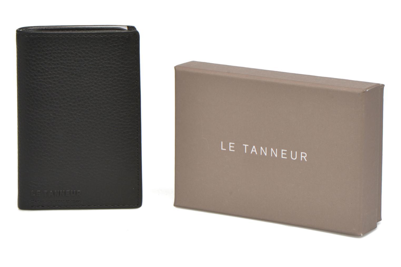Marroquinería pequeña Le Tanneur MARIUS Porte-cartes poche billets Negro vista de detalle / par