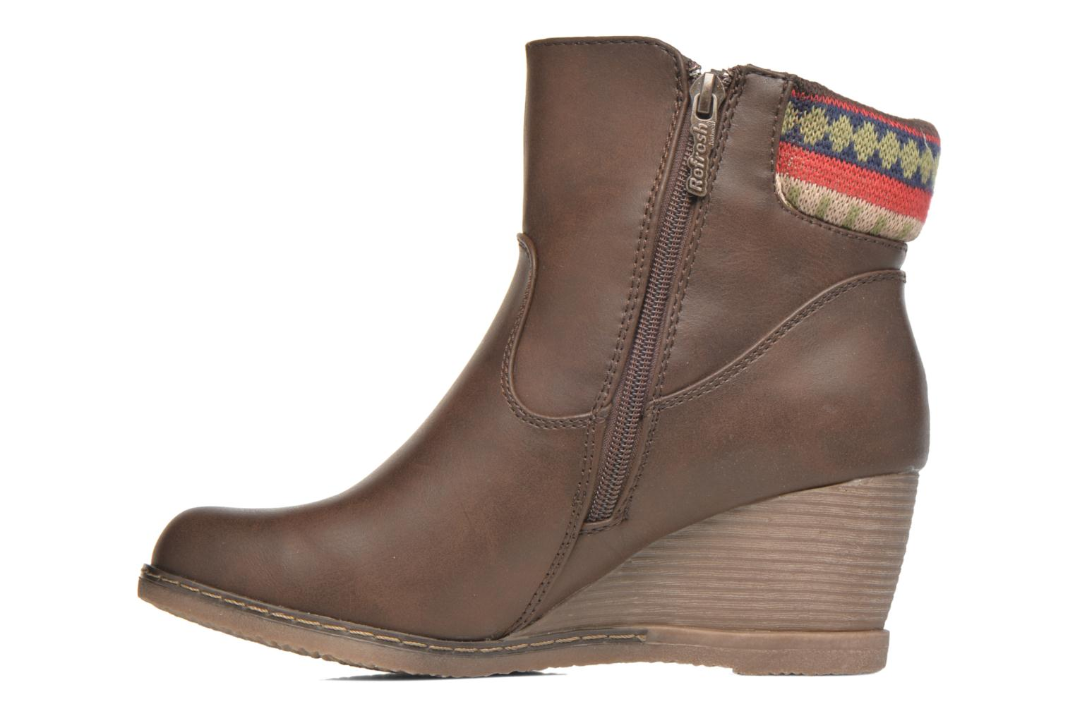 Ankle boots Refresh Mayalena-61628 Brown front view