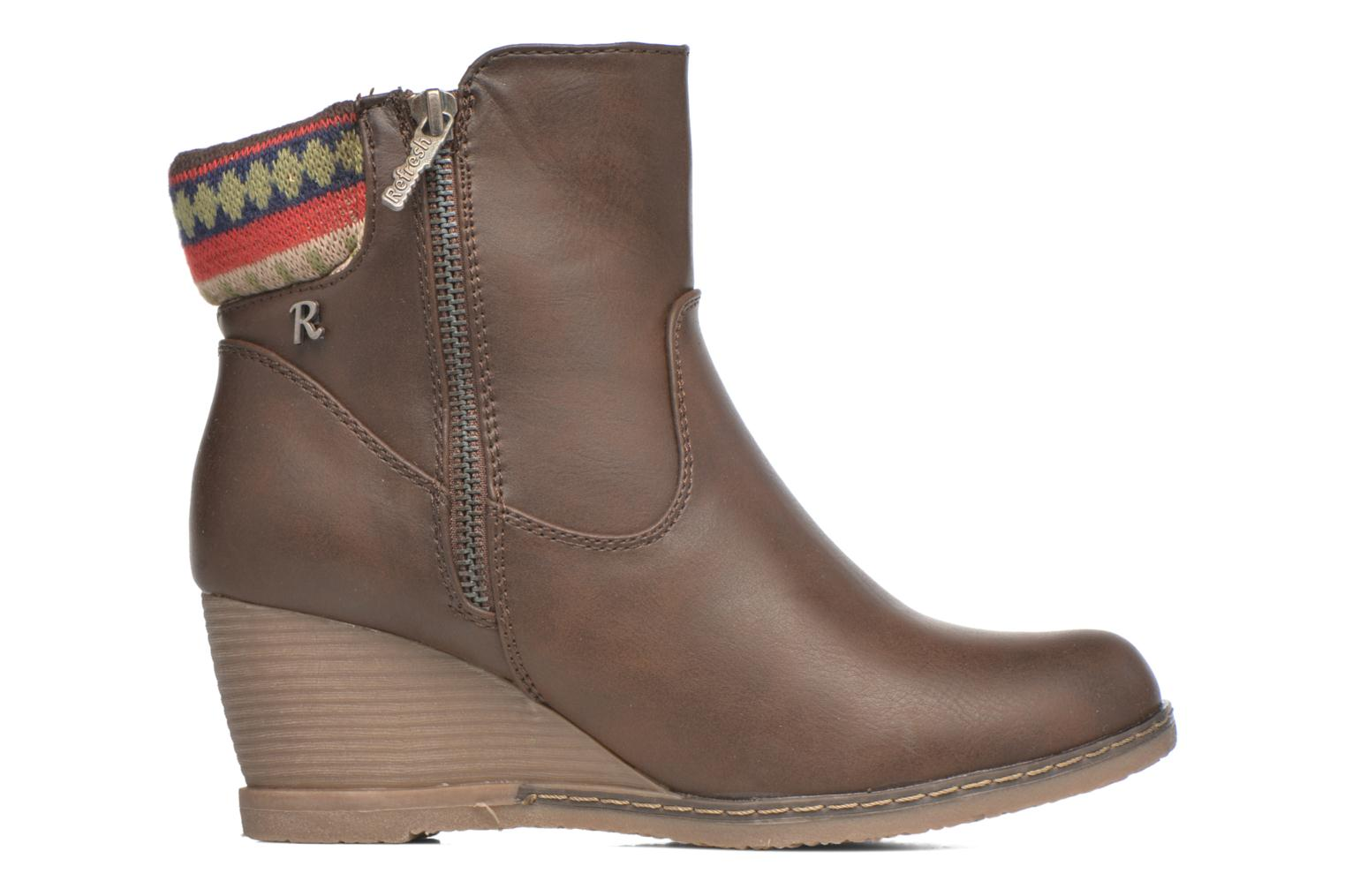 Ankle boots Refresh Mayalena-61628 Brown back view