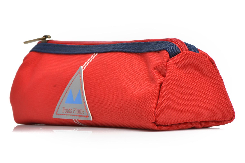 Scolaire Poids Plume Trousse triangle unie Rouge vue portées chaussures