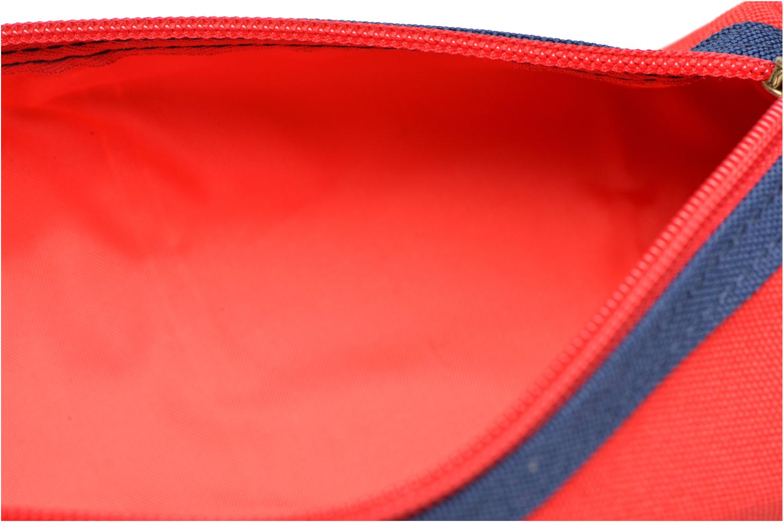 School bags Poids Plume Trousse triangle unie Red back view