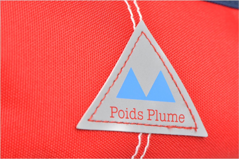 Scolaire Poids Plume Trousse triangle unie Rouge vue gauche