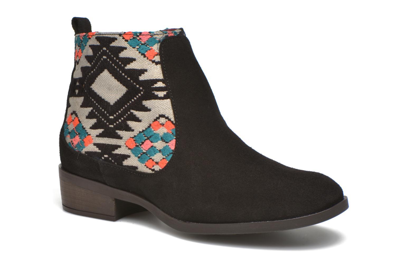 Bottines et boots Desigual Indian boho Noir vue détail/paire