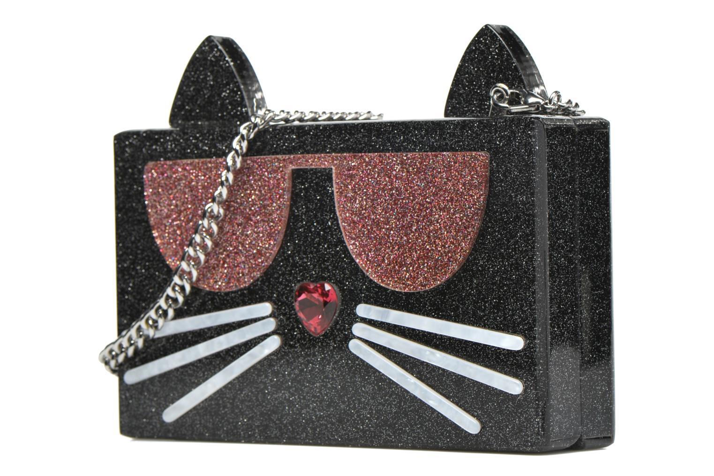 Sacs à main Karl Lagerfeld Kocktail Minaudière Noir vue portées chaussures